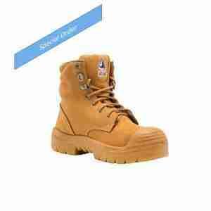 Steel Blue Ladies Argyle Safety Boot Nitrile w/Bump - 542702