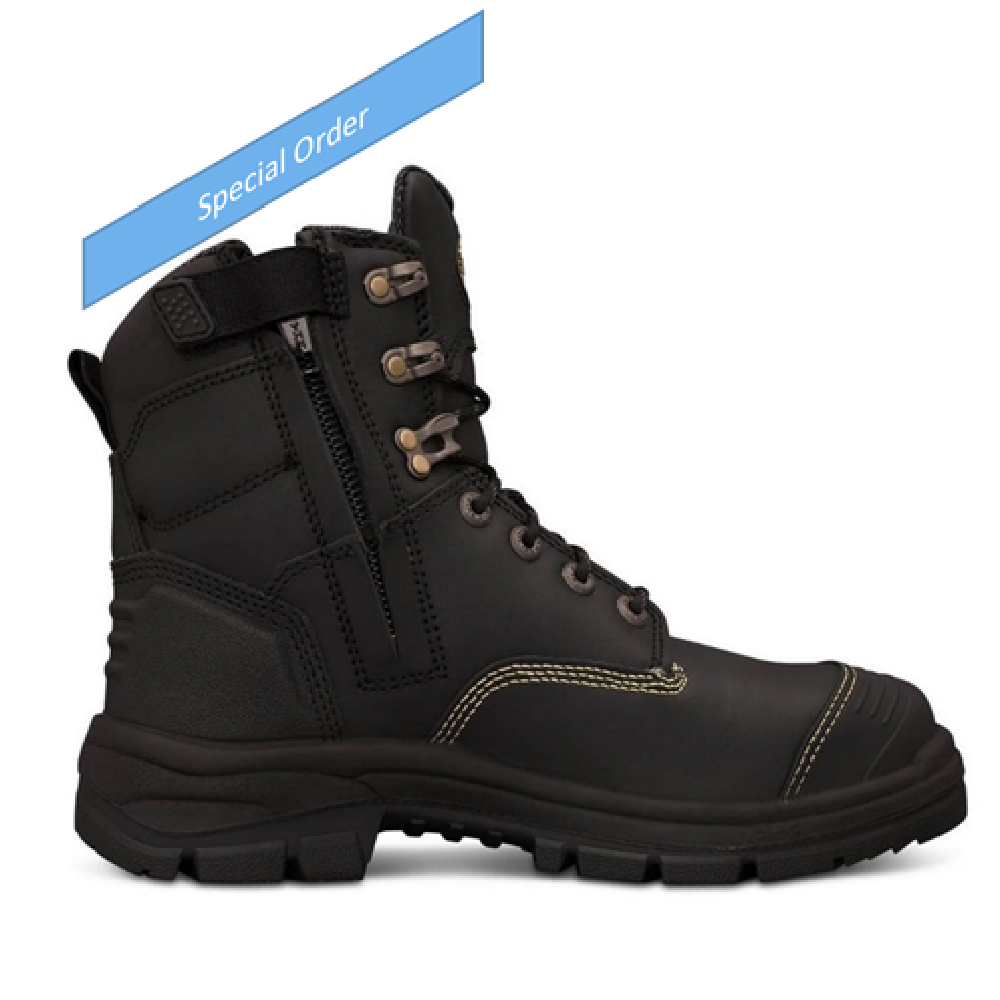Oliver 150mm Black Zip Sided Boot - 55-345Z
