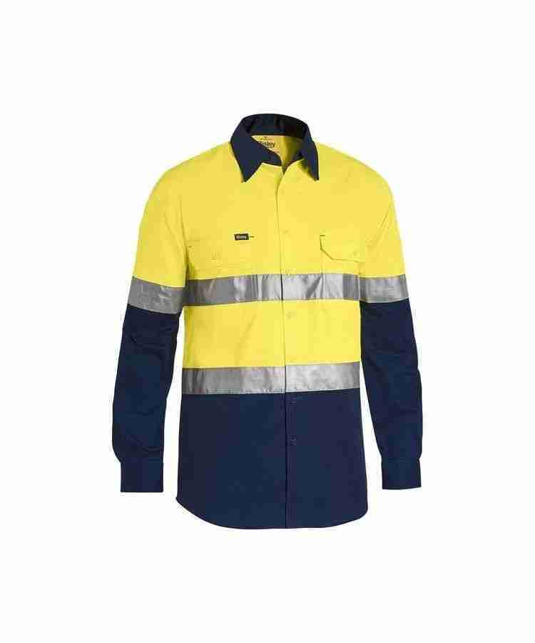 Bisley 3M Taped Two Tone Hi Vis Cool Lightweight Shirt - BS6696T