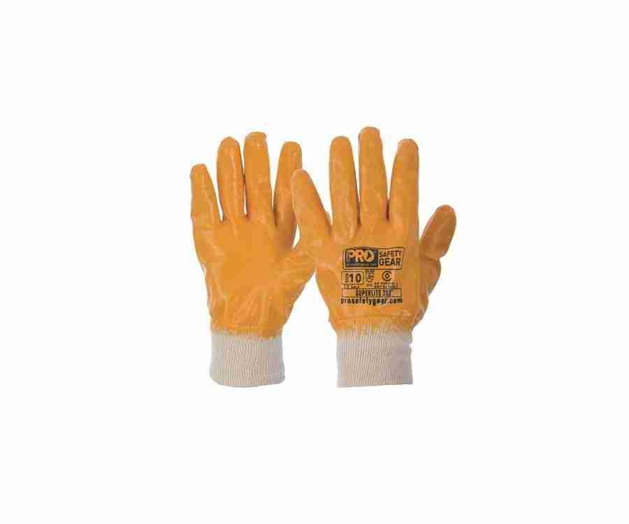 Super-Lite Orange Fully Dipped Gloves