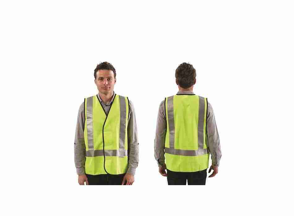 Safety Vest with Reflective Tape - Day/Night Use