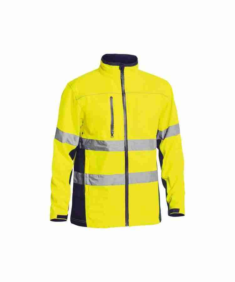Bisley Taped Hi Vis Soft Shell Jacket - BJ6059T