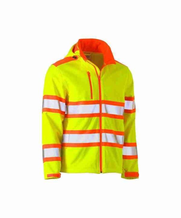 Bisley Taped Double Hi Vis Softshell Jacket - BJ6222T
