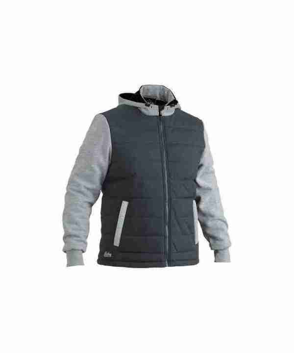 Bisley Flex and Move Contrast Puffer Fleece Hooded Jacket - BJ6944