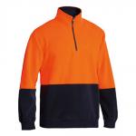 Bisley Hi Vis Polar Fleece Zip Pullover - BK6889