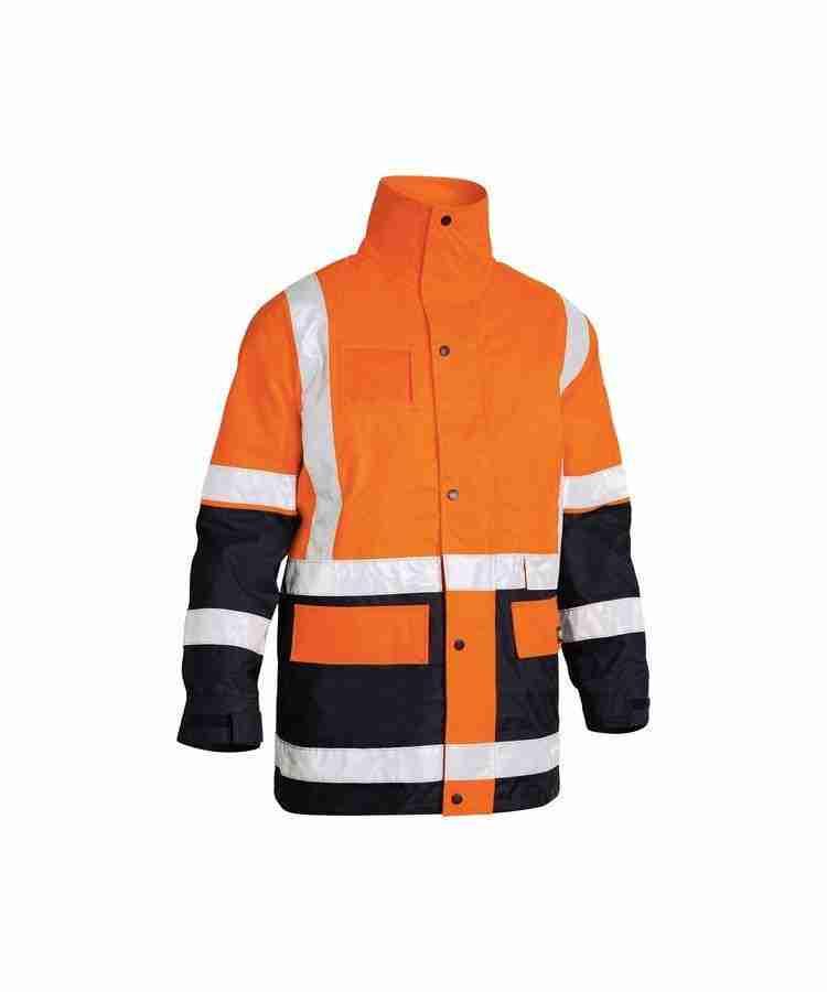 Bisley Taped Hi Vis 5 in 1 Rain Jacket - BK6975