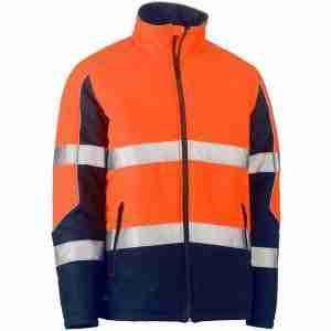 Bisley Taped Two Tone Hi-Vis Puffer Jacket