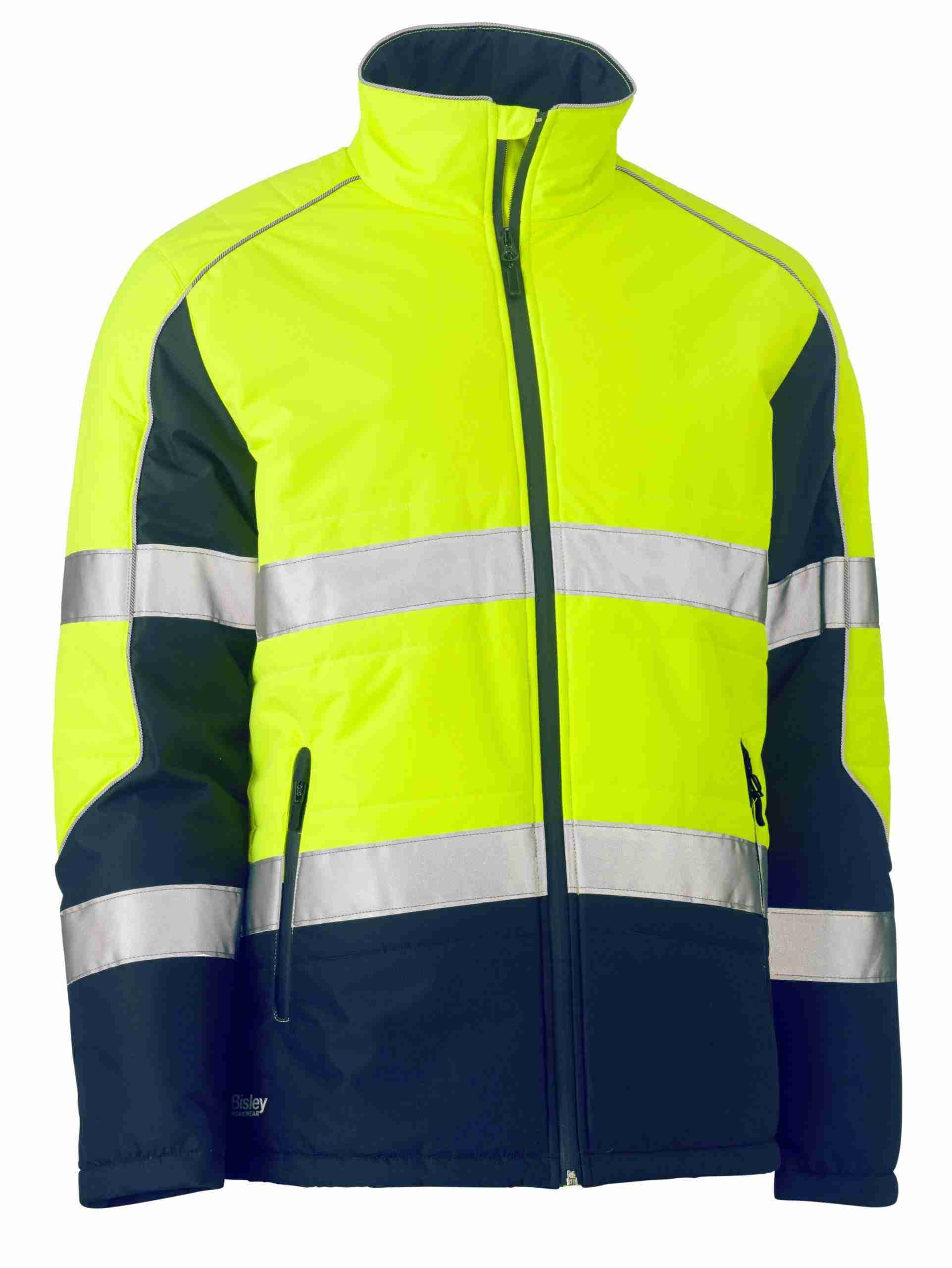 Bisley Taped Two Tone Hi-Vis Puffer Jacket
