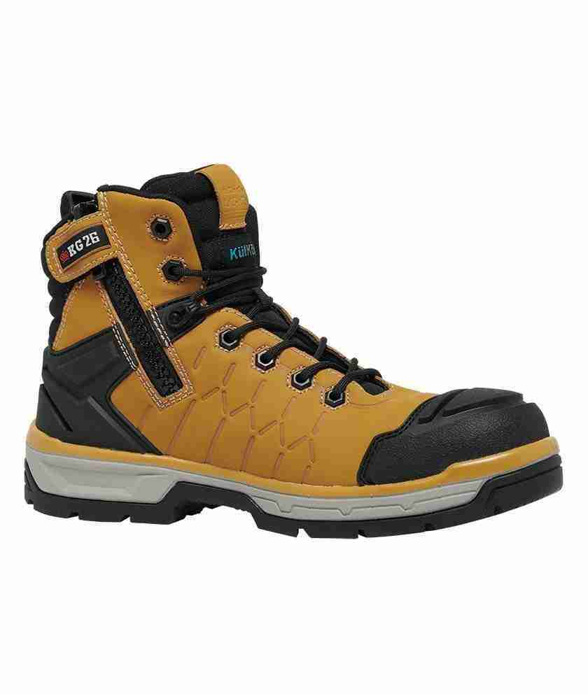 KING GEE - QUANTUM ZIP SIDE WB WHEAT/BLACK K27115
